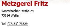 Metzgerei Fritz